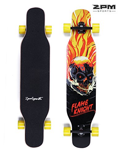 2PM SPORTS 42 inch Canadian Maple Professional Longboard Skateboard Complete Cruiser for Carving Downhill Riding Freestyle