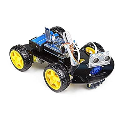 UCTRONICS Smart Bluetooth Robot Car Kit - Board for Arduino UNO R3, Line Tracking, Ultrasonic Sensor, HC-05 Bluetooth, L239D Motor Shield, IR Remote Control, Mobile APP - Charger Included: Toys & Games
