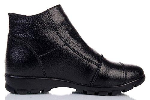 Stivali Scarpe Stivali Caviglia Donna Pelle Inverno Donna Caldo Donna DAFENP da nero2 Stivali Neve 6xdZ6w