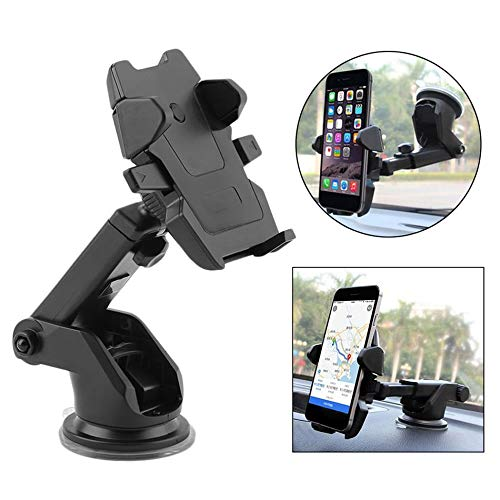 Iron Clutch 360degree One Touch Mobile Holder with Stand for All Cars with Quick One Touch Technology for Mobiles Phones