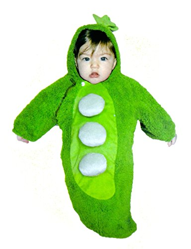 Pea Pod Halloween Costumes (Halloween Infant Lil Peapod Costume 0 to 9 Months)