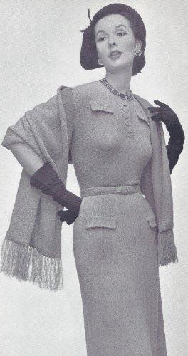 Amazon Vintage Knitting Pattern To Make Designer Dress Stole