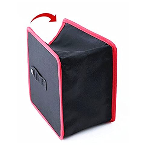 Auto Car Waste Basket Trash Can Bin Storage Bag Collapsible Box Easy Clean Black - Folding Candy Pail