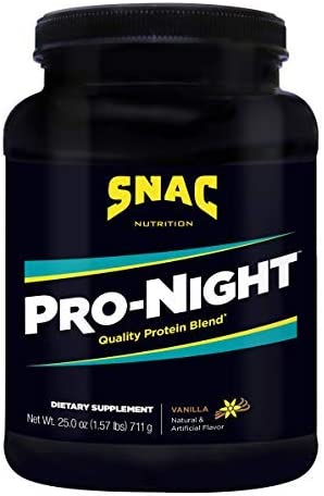 SNAC Pro-Night Quality Protein Blend for Nighttime Muscle Recovery, Vanilla
