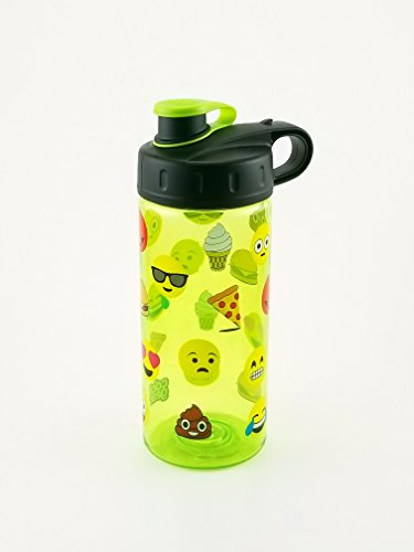 Cool Gear 16 fl oz BPA Free Water Bottle with Fun Emojis