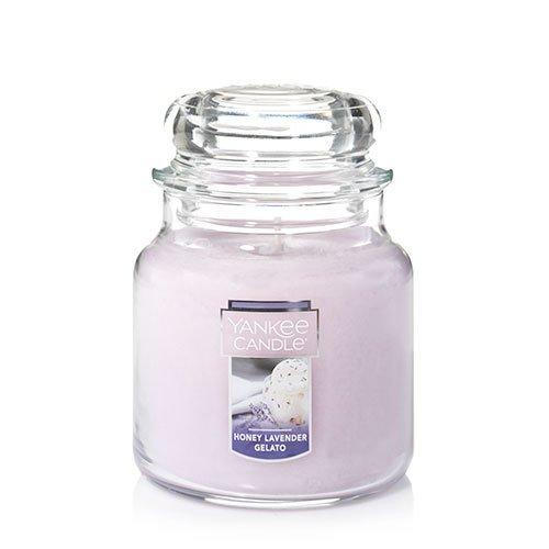 Jar Candle Wax Candle - Yankee Candle Medium Jar Candle, Honey Lavender Gelato