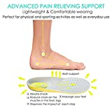 Insole,Fheaven Shock Absorption Breathable Anti Odor Sport Comfort Cuttable Shoe Insoles for Men and Women (M)