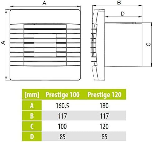 Calidad pared ba/ño extractor de cocina est/ándar 120mm ventilador con el prestigio de obturaci/ón gravedad ventilador