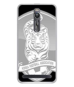 ColorKing Football South Korea 07 Grey shell case cover for Asus Zenfone 2