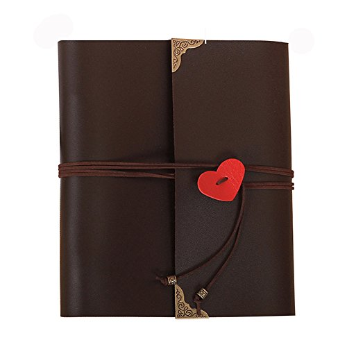 Guwheat Handmade DIY Family Retro Album, Anniversary Adhesive Scrapbook/Wedding Photo Book with Gift Box (10.63X9.33 inch, Black)