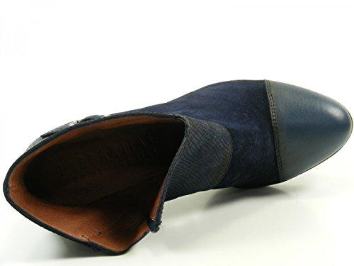 HispanitasAmberes HI63891 Botines de cuero para mujer Ankle Boots Blau