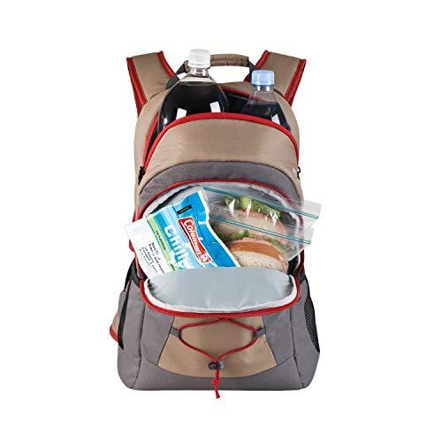 41hLklI6iTL - Coleman Soft Cooler Backpack | 28 Can Cooler, Khaki