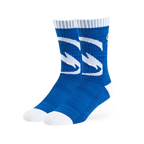 (OTS NHL Tampa Bay Lightning Male Ice Box Sport Socks, Royal, Large)