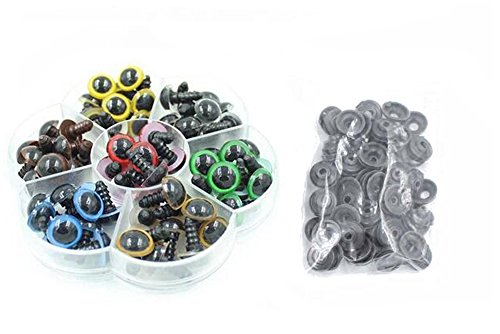 1 Box 10mm/12mm Plastic Multicoloured Safety Eyes Kit wit...