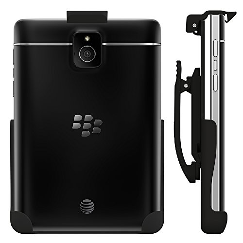 Seidio Spring-Clip Holster for Non-Cased BlackBerry Passport (AT&T) and Passport Silver Edition - Retail Packaging - Black