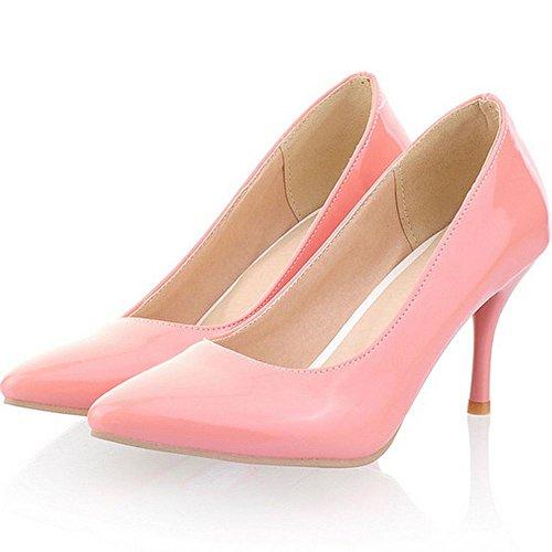 TAOFFEN Heels Basic Dress Classic Office Size Shoes Women 16 US1 Pumps Kitten Pink wfqW6TZq