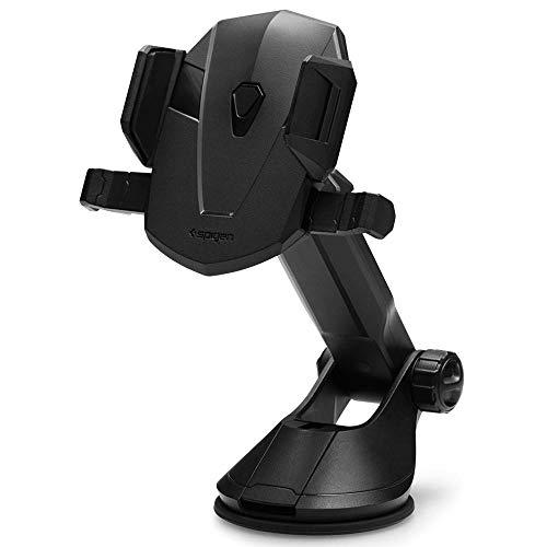 Spigen Kuel AP12T OneTap Car Phone Mount Universal Car Phone Holder With OneTap Technology for iPhone X/8/8 plus/7/7 Plus/6S/6S Plus/Galaxy Note 8/S8/S8 Plus/S7 Edge & More - Black