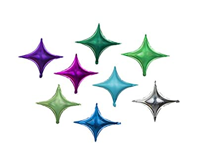 Star Balloon Happy Birthday Party - Set of 16 Pack Mylar Foil 26 Inch Helium Reusable Ballons For Congratulation Decoration Anniversary Festival Graduation Bouquet Gift Idea Engagement Celebration