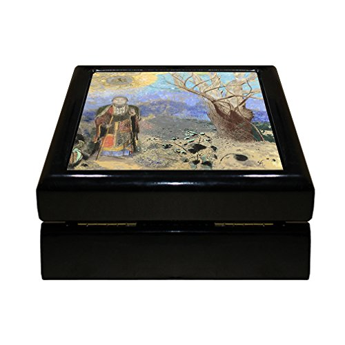 Buddha Tile Box - Buddha (Odilon Redon) 4