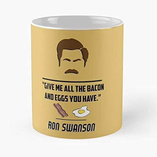 92Wear Bacon Eggs Ron Swanson Parks and Rec - Best 11 Ounce ...