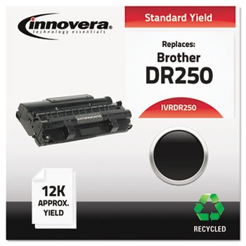 (Innovera Remanufactured Dr250 Drum Cartridge, 12000 Page-Yield, Black)