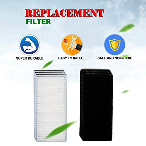 HIFROM Replacement Filters Black Sponges Main with HEPA for Deebot N79S Cleaner Accessories