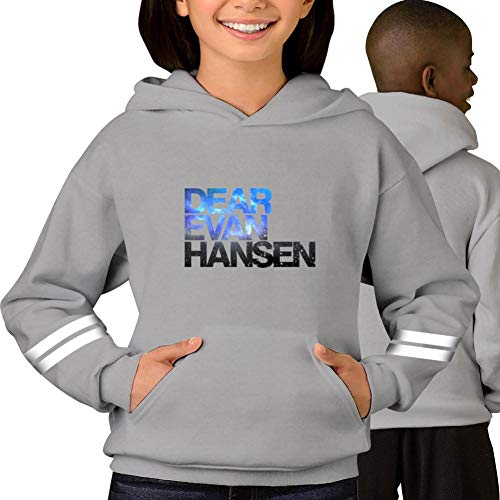 TenHood Dear Ev-an Galaxy Han-sen Teens Pullover Hoodie Long Sleeve Graphic Print Sweatshirt Cotton for Young Pocket Gray