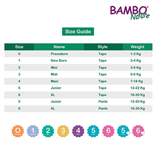 Bambo Nature Baby Case Saver Eco Trainingshose Gr/ö/ße 6 90 St/ück