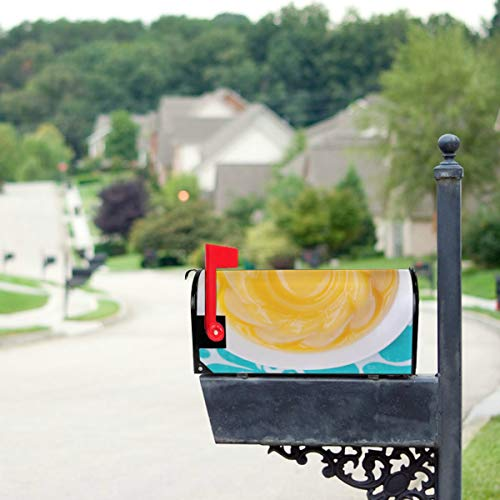 THKDSC Homemade Caramel Custard Pudding Mailbox Covers Standard Size Original Magnetic Mail Cover Letter Post Box 21