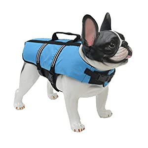 Lovelonglong Dog Lifejacket Life Jackets for Small Dogs Swimming Safe Boating Coat Dog Swim Protect Reflective Vest Pet… Click on image for further info.