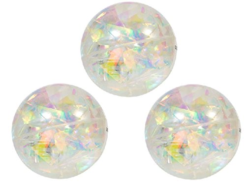 LIGHTS UP! Water-Filled Bouncy Balls which spark light when they bounce! Frozen-Inspired Colors (Clear 3-pack)