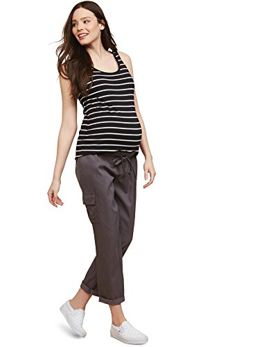Pant Maternity Crop Twill (Motherhood Under Belly Twill Straight Leg Maternity Crop Pants)