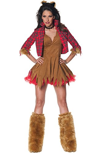 Mememall Fashion Howlin' Werewolf Woman Adult Halloween Costume (Sexy Werewolf Costume)