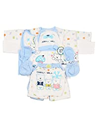 Newborn Baby Clothing 18pcs Layette Set Unisex Essentials Bundle Infant Rompers Blue