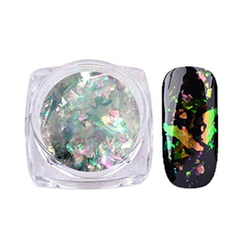 LtrottedJ Nail Art Gorgeous Chameleon Mirror Powder Manicure