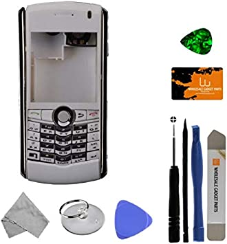 with Tool Kit Housing for BlackBerry 8130 Pearl Complete Silver