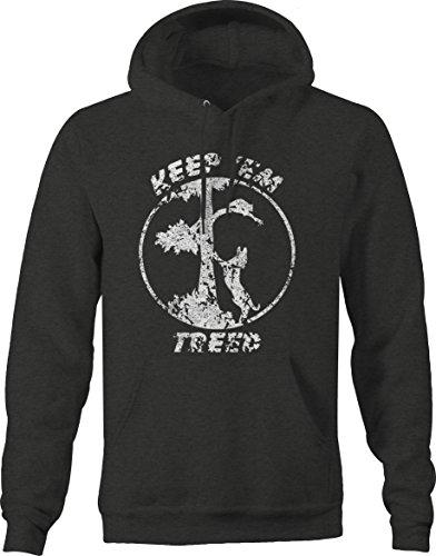OS Gear Distressed - Keep 'EM TREEDCoon Hunting Racoon Hound Dog Sweatshirt - Large