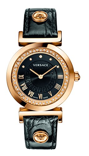 Versace Women's P5Q84SD009 S009 Vanity Analog Display Swiss Quartz Black Watch
