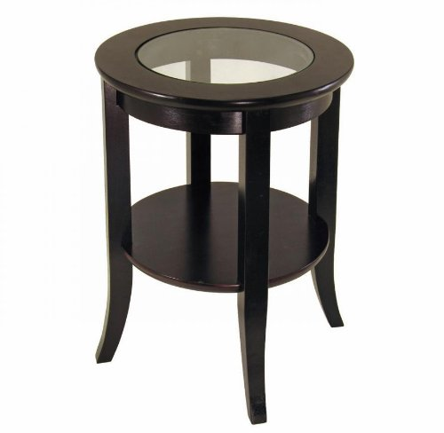 Winsome Wood Genoa End Table, Espresso (Round Table For Sale)