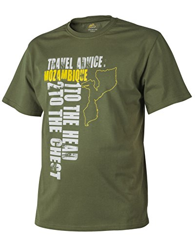T-Shirt (Travel Advice: Mozambique) 1 Head 2 Chest - Baumwolle - U.S. Green