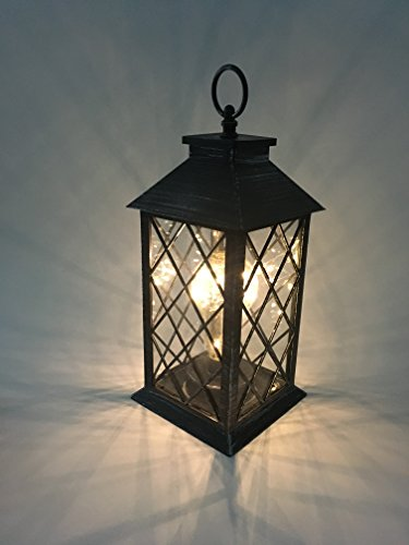 YaCool Decorative Garden Lantern   Vintage Style Hanging Lanterns Outdoor  Lighting Garden Light   Battery Operated 5 Hour Timer  12u0027