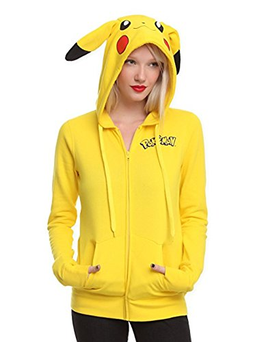 Miracle(Tm) Pokemon Girls' Pikachu Costume Hoodie - Pokemon Hoodie (Pikachu Hoodie For Sale)