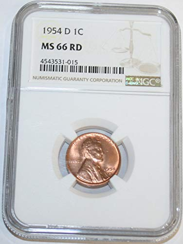 1954 D Lincoln Cent MS66 NGC RD