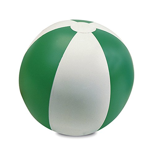 eBuyGB Inflatable Beach Ball, Transparent Green/White,