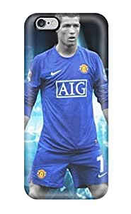 High-end Case Cover Protector For Iphone 6 Plus(cristiano Ronaldos Football)(3D PC Soft Case)