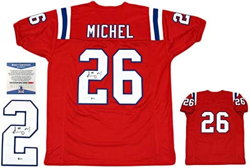 Sony Michel Autographed Signed Jersey - Beckett Authentic - Red at ... 6afa39e08