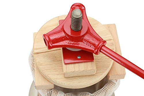 Fruit Wine Press 4.75 Gallon Cider Apple Grape Crusher Juice Maker With Solid Wood Basket by TheBesTeam (Image #1)