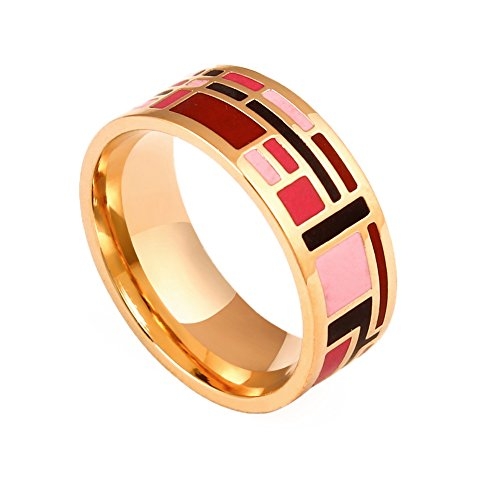 black ladies rings product blue ring band p yellow gold caravaggio enamel and wedding italian