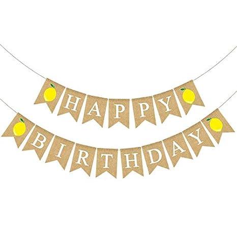 Amazon.com: Guirnalda de yute para fiesta de cumpleaños con ...