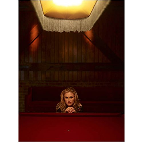 - Anna Paquin Posing Behind Pool Table Under Light 8 x 10 Inch Photo